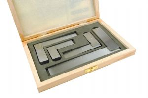 "Engineers Squares, Set x 4 in Wooden Display Box, 2"" 3"" 4"" 6"". M9114"